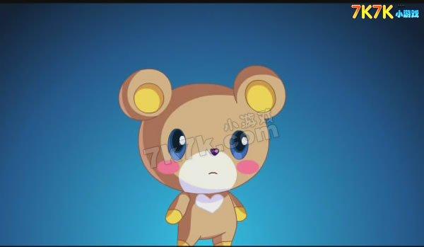 原来是一只很可爱的小熊啊!